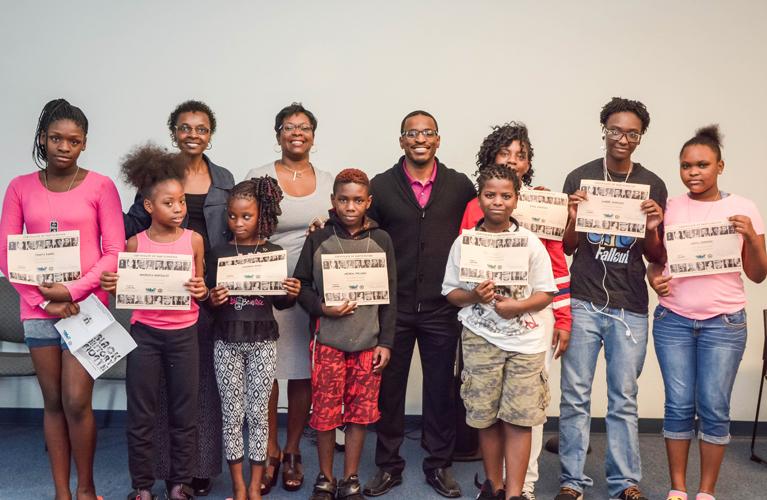 Particpants of Black History Month Celebration