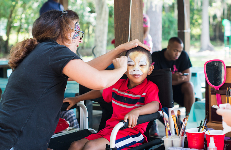 Facepainting at the Celebrating Fatherhood event