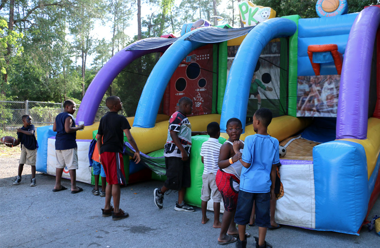 Children playing at Resident Appreciaton Day event