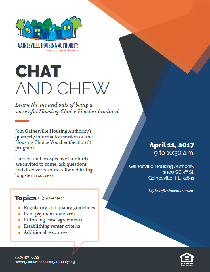Chat Chew Hcv Landlord Information Session Gainesville Housing