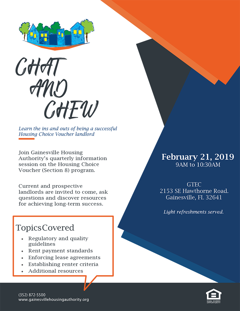HCVP (Section 8) Chat and Chew | Gainesville Housing Authority