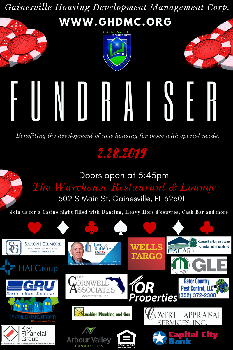 Flyer for casino fundraiser