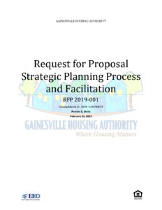 RFP 2019-001 - Strategic Planning | Gainesville Housing Authority