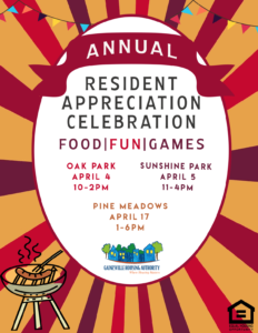Resident Appreciation Celebration 2019 flyer