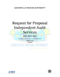 RFP 2019-002 Independent Audit Services | Gainesville Housing Authority