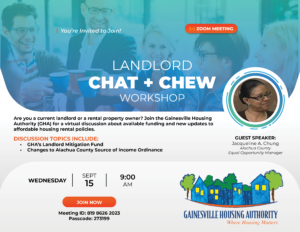 chat and chew flyer